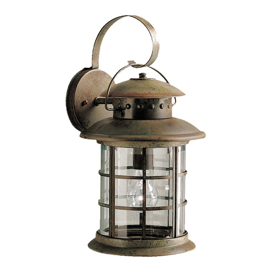 Klaffs Wall Sconces : Shop Kichler Rustic 17.75-in H Rustic Outdoor Wall Light at Lowes.com