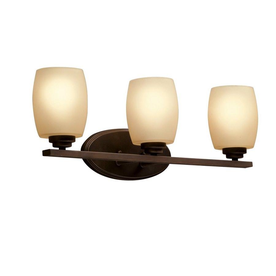 Kichler Eileen 3-Light 9.25-in Olde Bronze Cylinder Vanity Light
