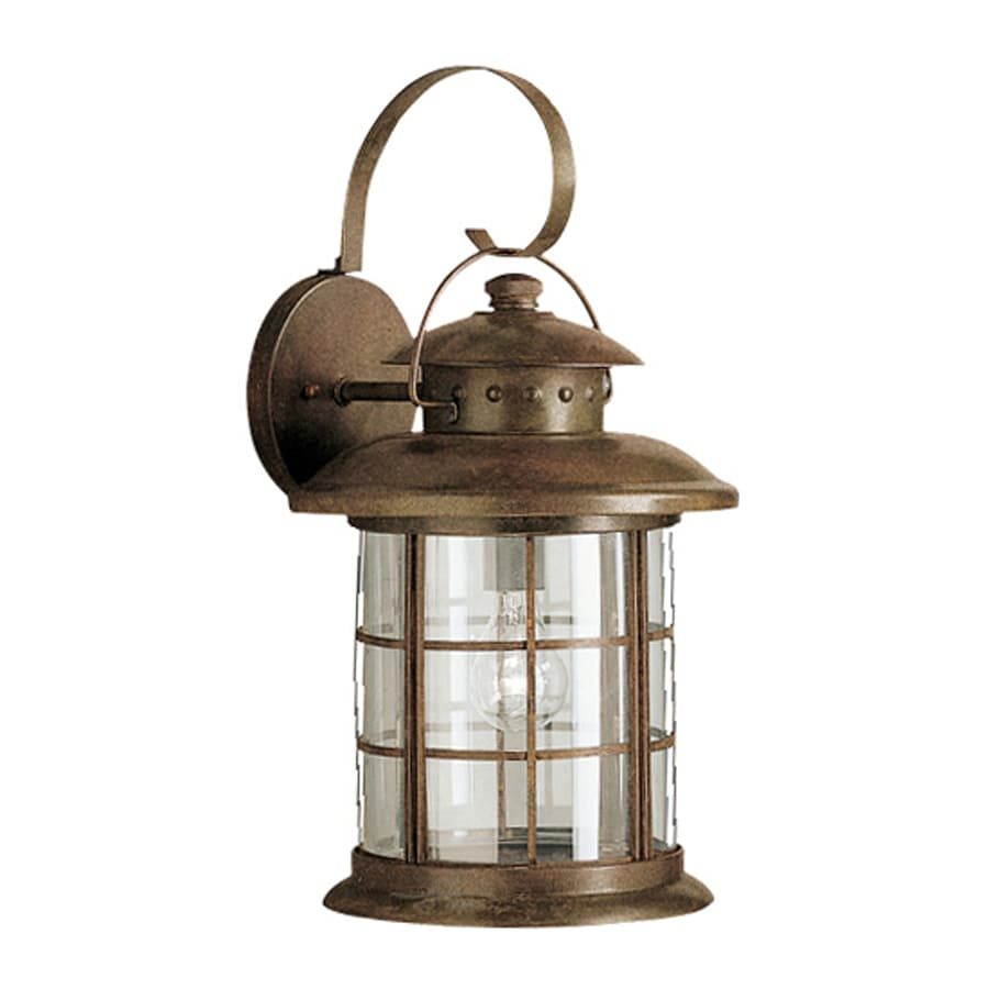 Rustic Wall Sconces Lowes : Shop Kichler Rustic 20.25-in H Rustic Outdoor Wall Light at Lowes.com