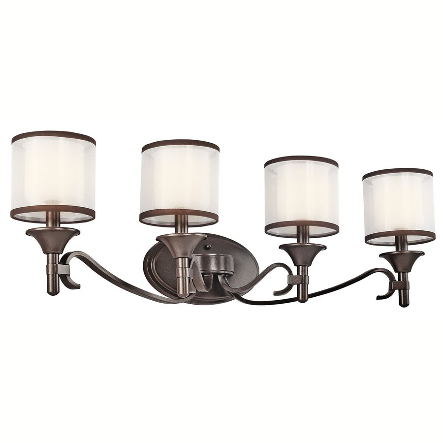 Kichler Lacey 4-Light 10-in Mission Bronze Drum Vanity Light