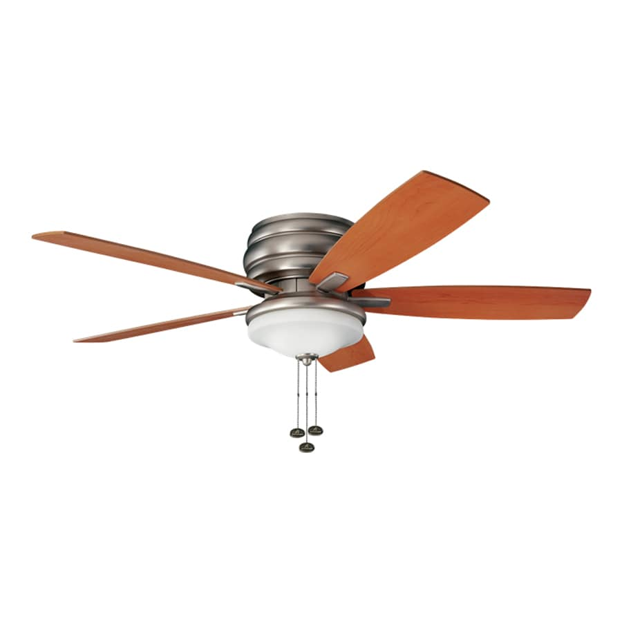 Ceiling Fans Mount: Shop Kichler Lighting Windham 52-in Brushed Nickel Flush