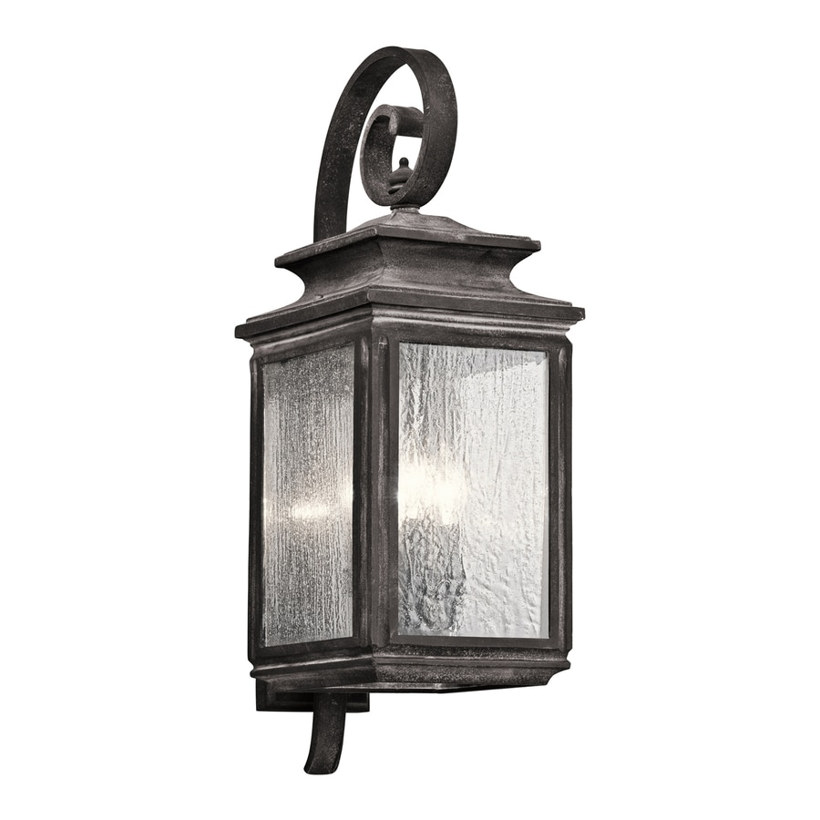 Kichler Wiscombe Park 26.25-in H Weathered Zinc Outdoor Wall Light