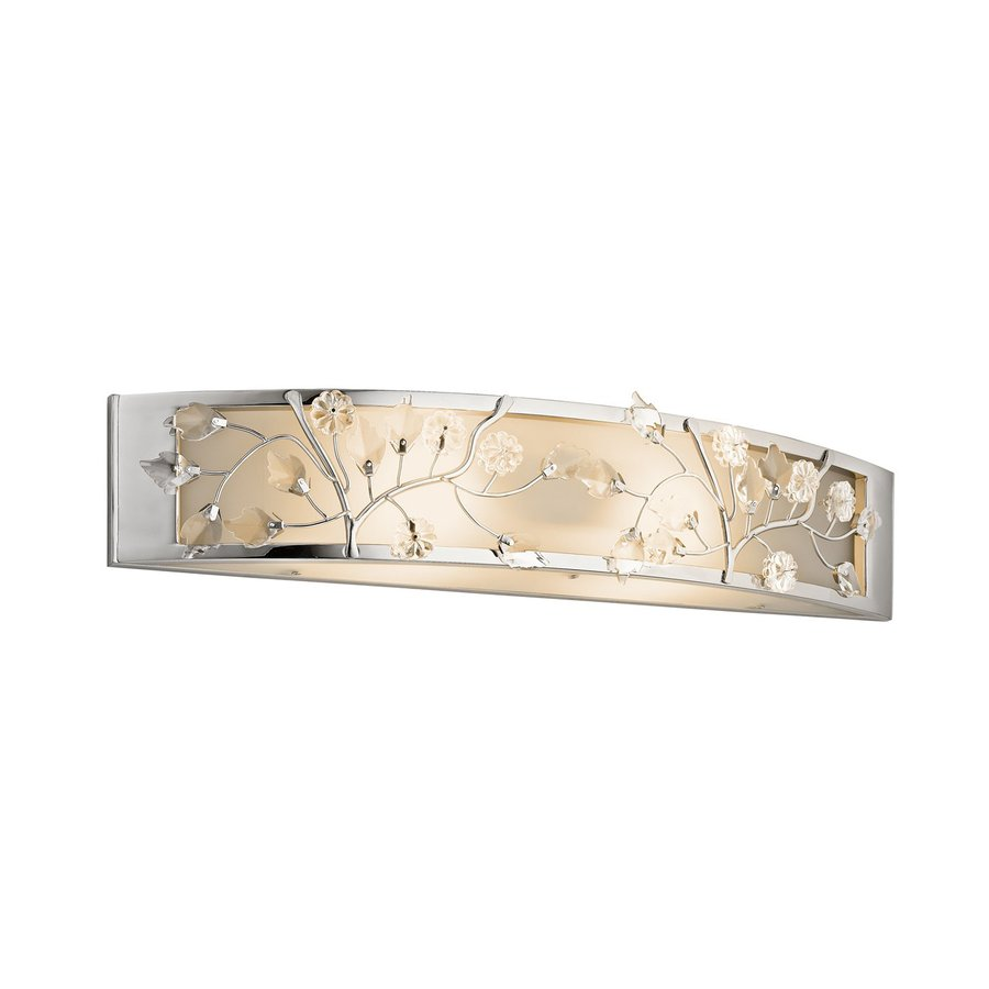 Kichler Lighting Jardine 1-Light Chrome Rectangle Vanity Light Bar