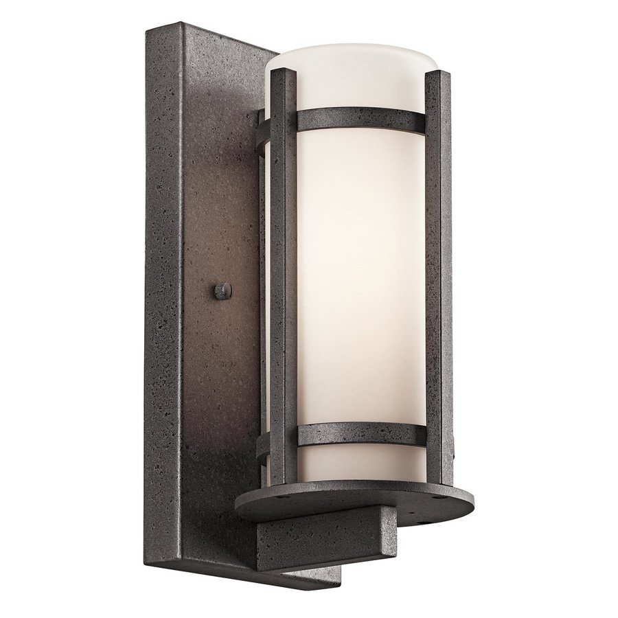 Kichler Lighting Camden 11-in H Anvil Iron Outdoor Wall Light
