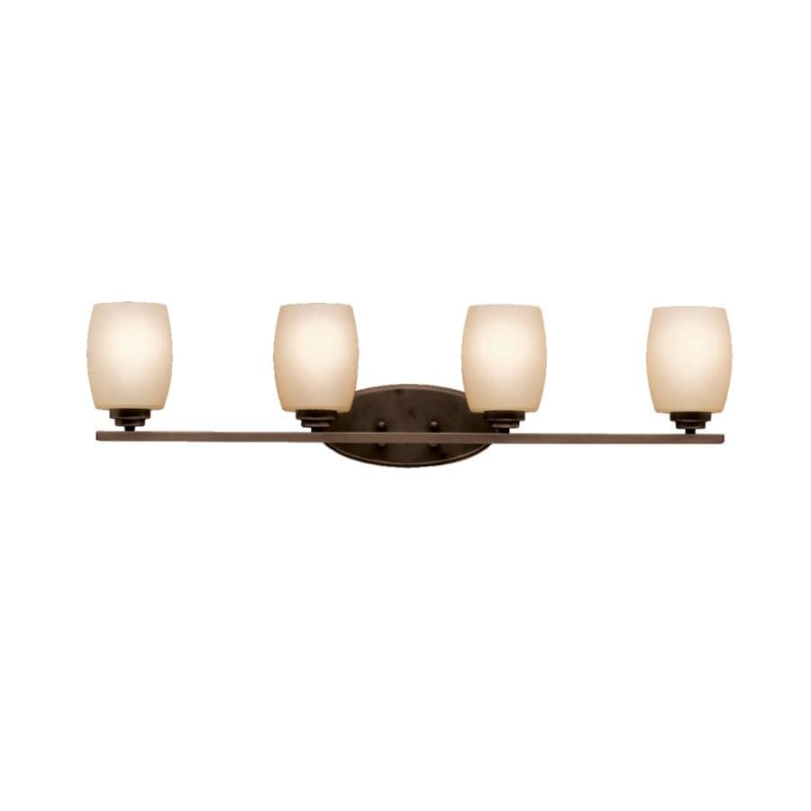 Kichler Lighting Eileen 4-Light 9.25-in Olde Bronze Cylinder Vanity Light