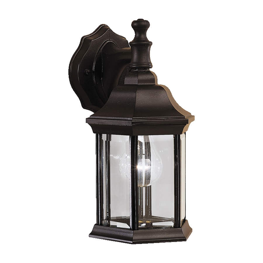 Shop Kichler Chesapeake H Black Outdoor Wall Light At