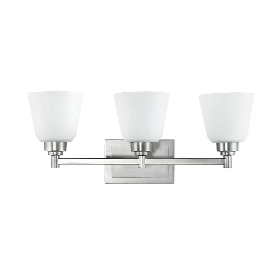 Kichler berwick 3 light brushed nickel bell - 8 light bathroom fixture brushed nickel ...