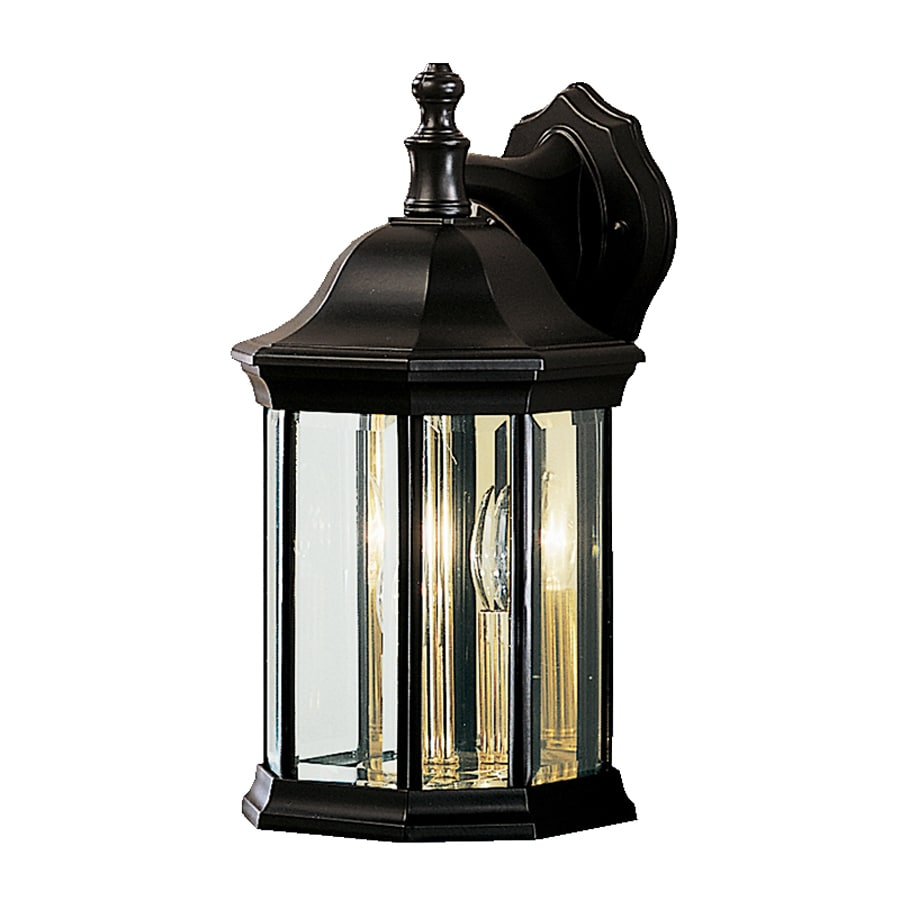Kichler Chesapeake 14.75-in H Black Outdoor Wall Light