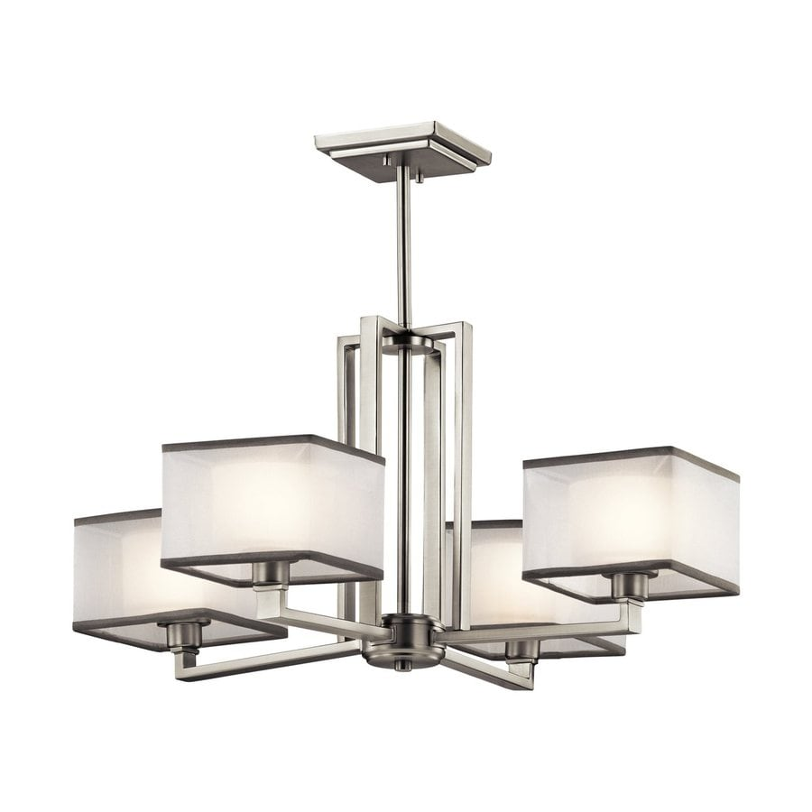 Kichler Kailey 25-in 4-Light Brushed Nickel Shaded Chandelier