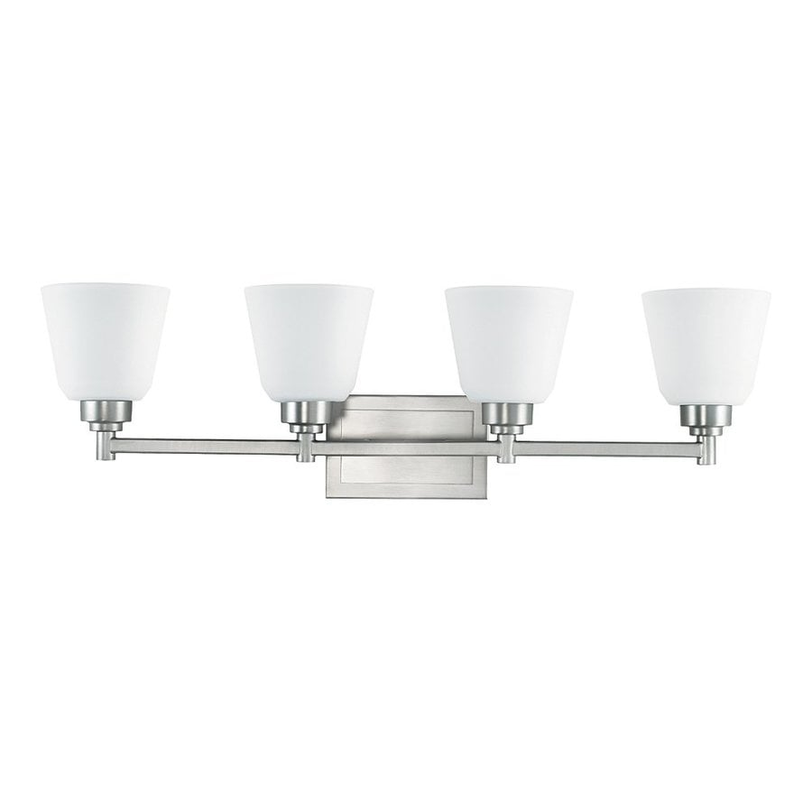 Kichler Berwick 4-Light 8.5-in Brushed Nickel Bell Vanity Light