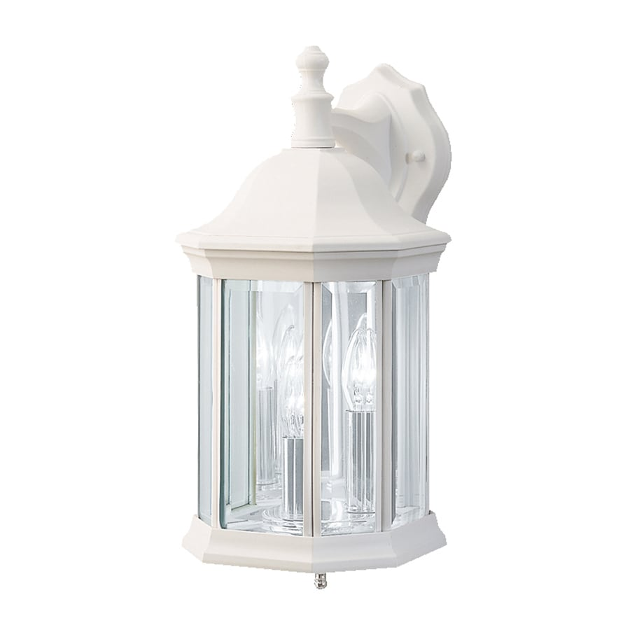 Exterior Wall Lights White : Shop Kichler Chesapeake 14.75-in H White Outdoor Wall Light at Lowes.com