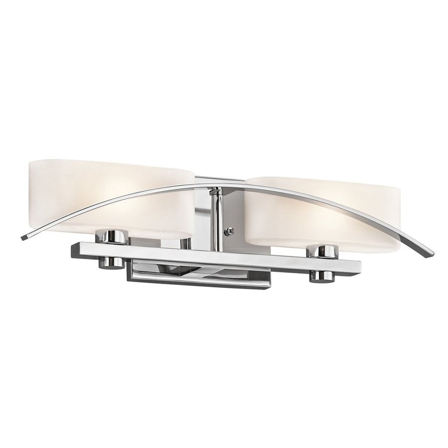 Kichler Suspension 2-Light 5-in Chrome Rectangle Vanity Light