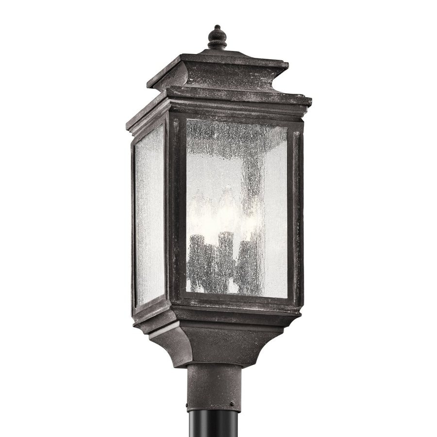 Kichler Wiscombe Park 23.25-in H Weathered Zinc Post Light