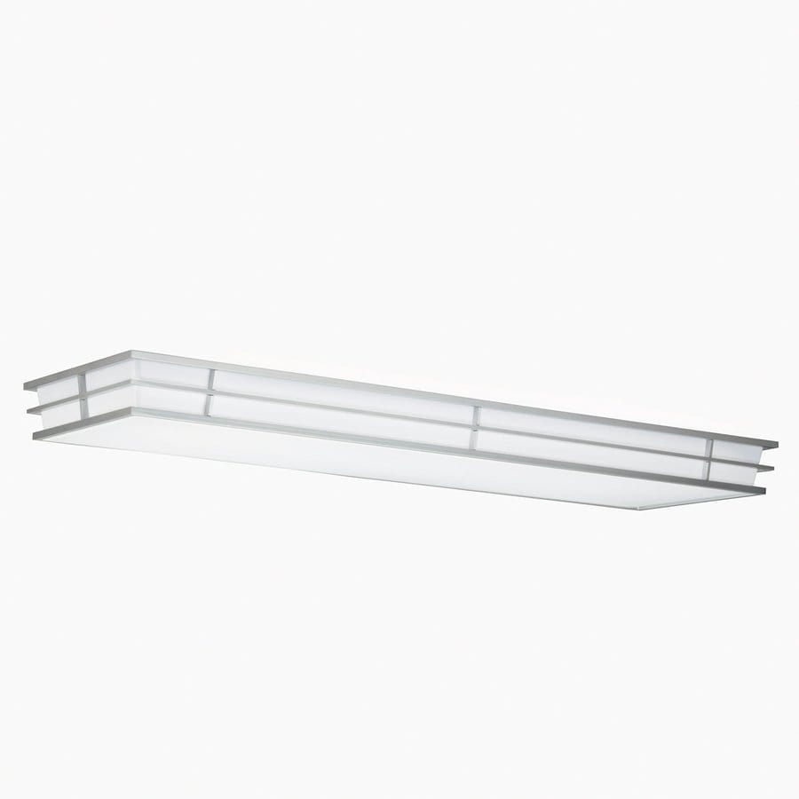 Shop Kichler Pavilion White Acrylic Flush Mount Fluorescent Light Common: 4ft; Actual: 52.25