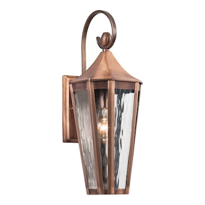 Rochdale 19 25 In H Antique Copper Outdoor Wall Light