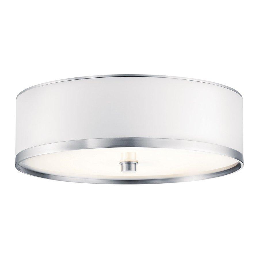 Kichler Lighting Pira White Vinyl Flush Mount Fluorescent Light (Common: 1-Ft; Actual: 12-in)