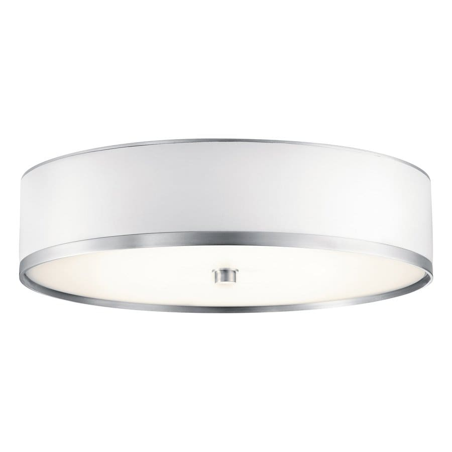 Kichler Lighting Pira Brushed Aluminum Flush Mount Fluorescent Light (Common: 1.5-ft; Actual: 15-in)