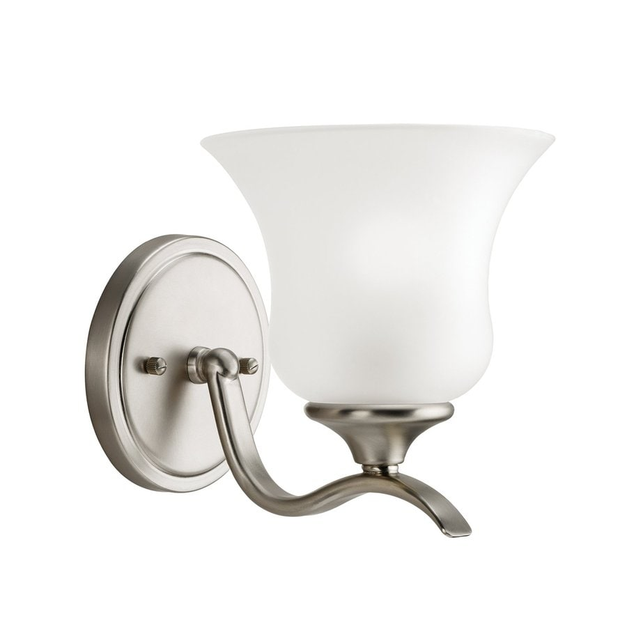 Kichler Vanity Lights Lowes : Shop Kichler Wedgeport 1-Light 7-in Brushed Nickel Bell Vanity Light at Lowes.com