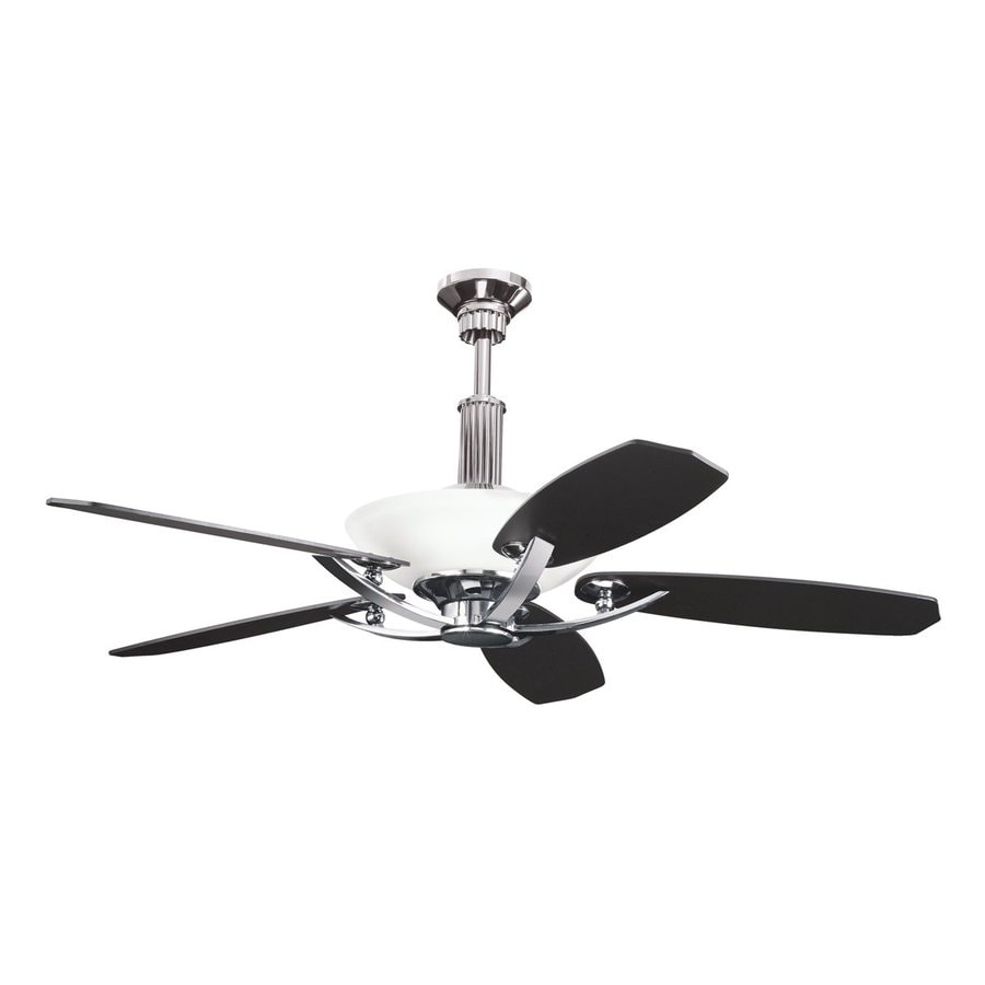 Kichler Palla 56-in Midnight chrome Indoor Downrod Mount Ceiling Fan with Light Kit and Remote