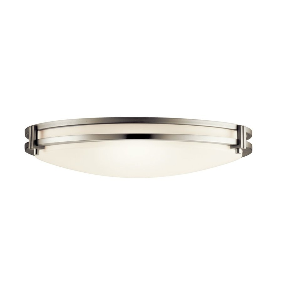Kichler Lighting Hastings Brushed Nickel Flush Mount Fluorescent Light (Common: 1.5-ft; Actual: 16-in)