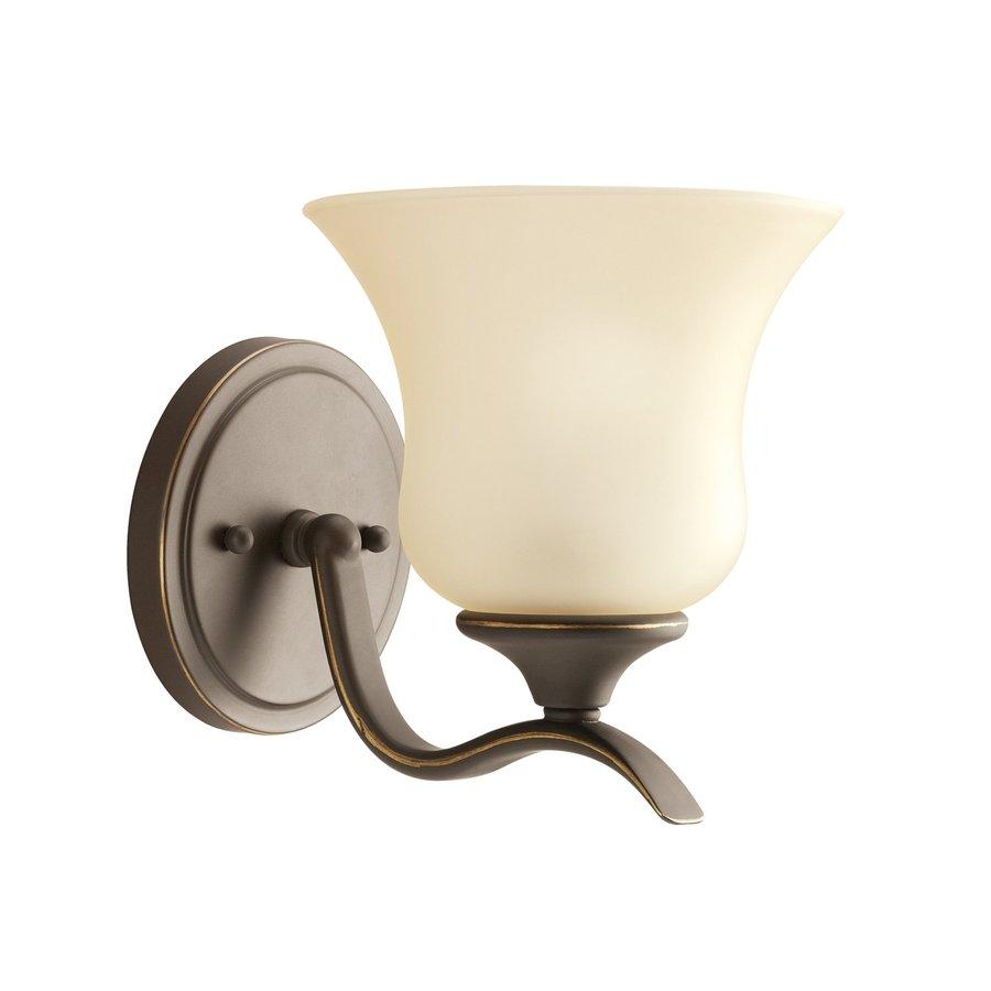 Kichler Lighting Wedgeport 1-Light 7-in Olde Bronze Bell Vanity Light