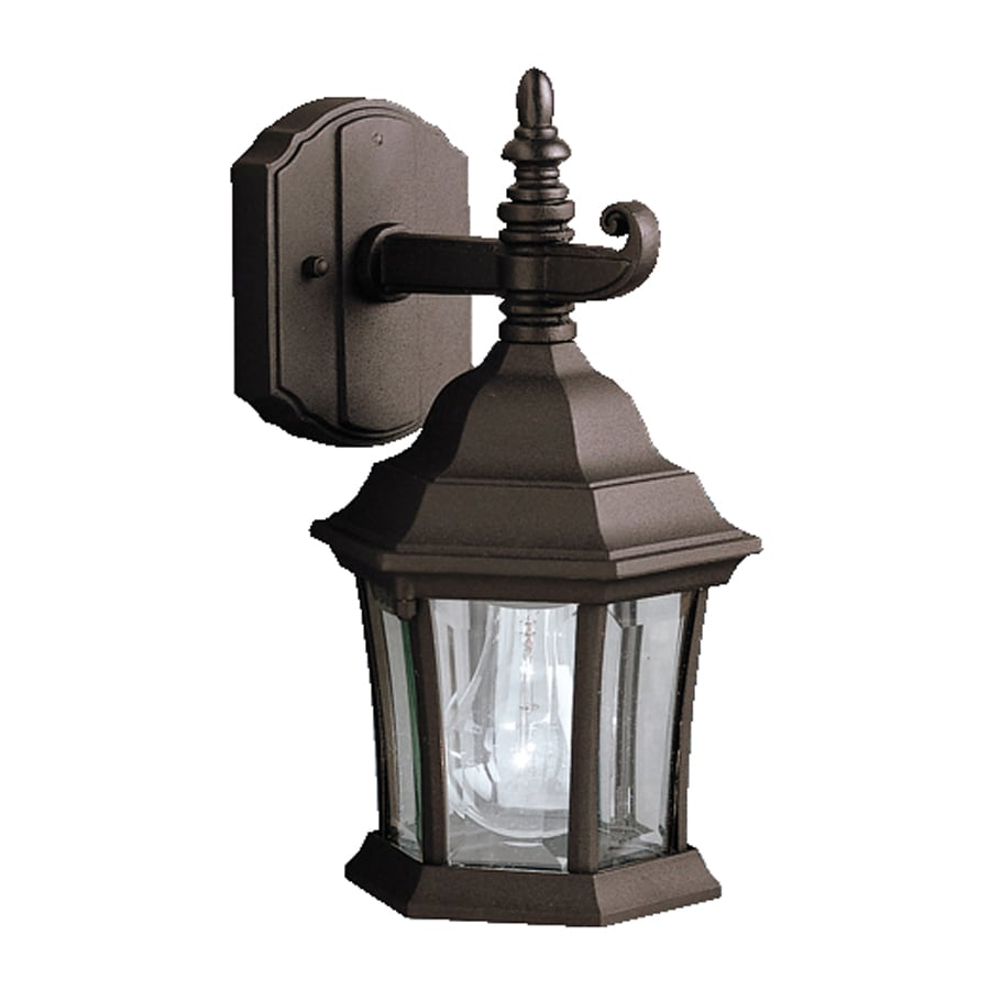 Exterior Wall Lights Lowes : Shop Kichler Lighting Townhouse 11.75-in H Black Outdoor Wall Light at Lowes.com