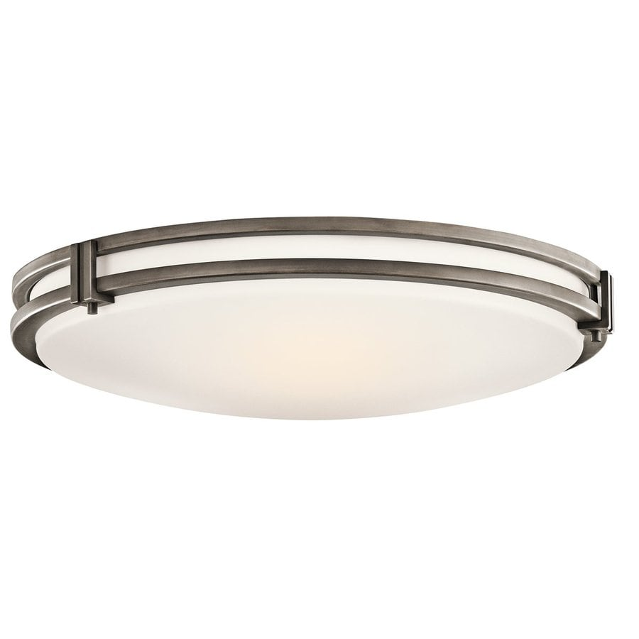 Kichler Hastings White Acrylic Flush Mount Fluorescent Light (Common: 1.5-Ft; Actual: 16-in)
