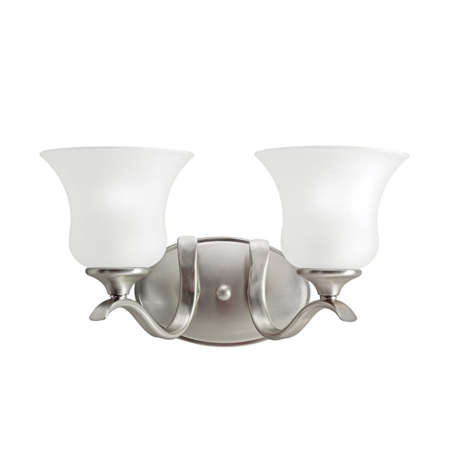 Kichler Wedgeport 2-Light 8.25-in Brushed Nickel Bell Vanity Light