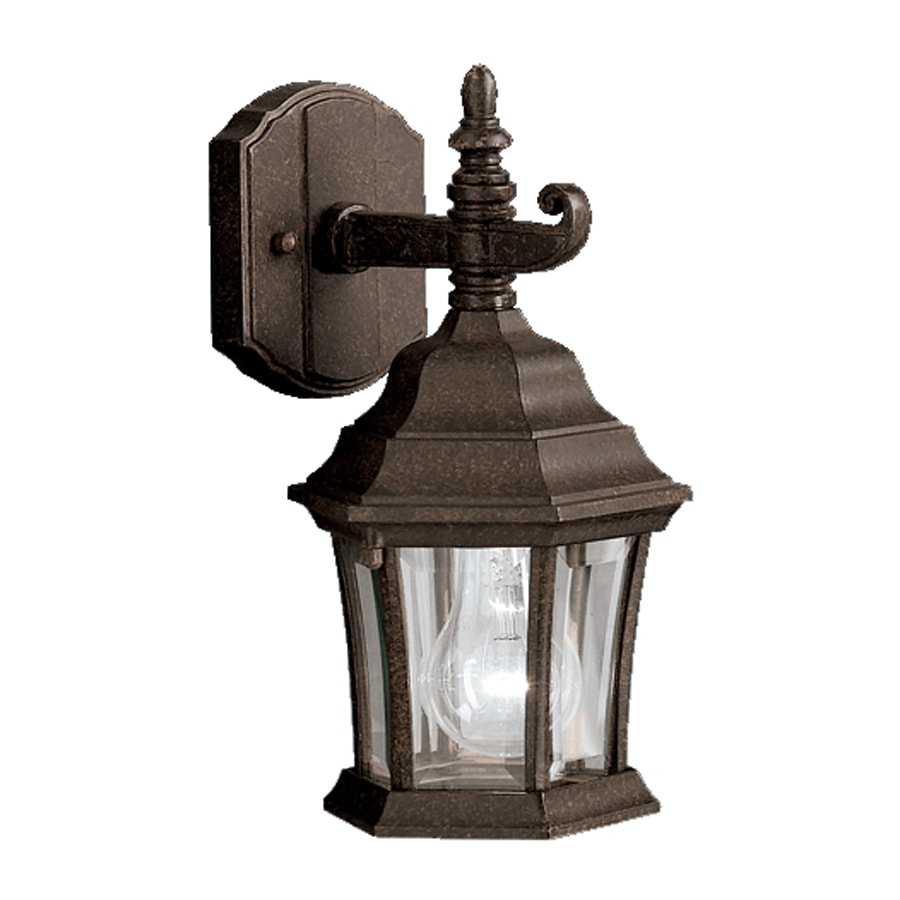 Shop kichler townhouse h tannery bronze outdoor for Outdoor porch light fixtures