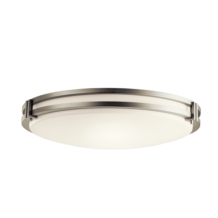 Kichler Lighting Hastings Brushed Nickel Flush Mount Fluorescent Light (Common: 2-ft; Actual: 24-in)