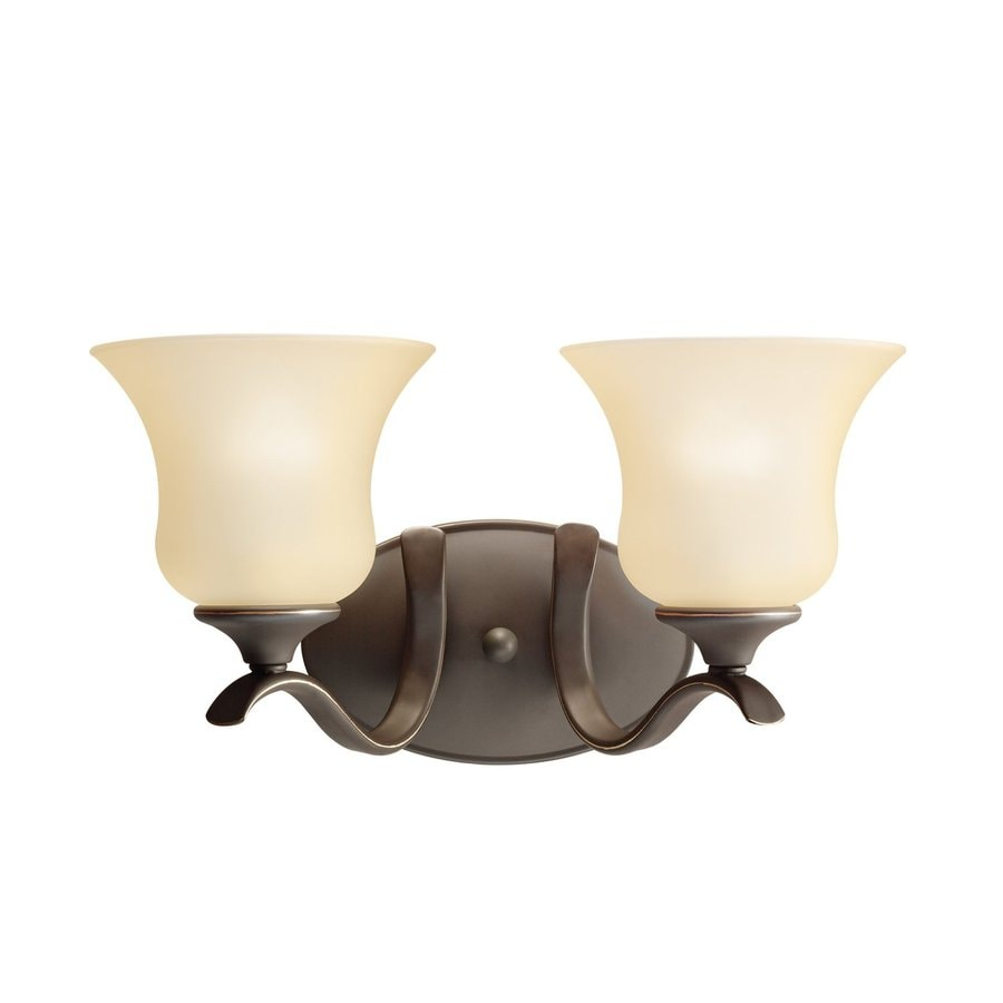 Kichler Lighting Wedgeport 2-Light Olde Bronze Bell Vanity Light