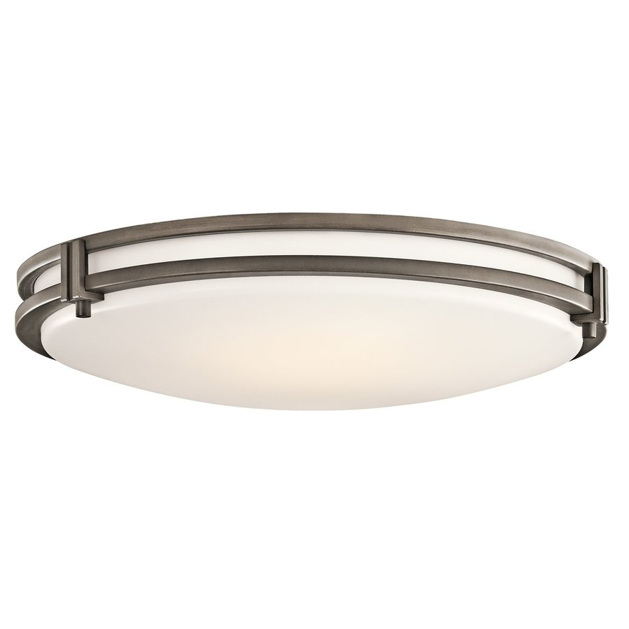 Kichler Hastings White Acrylic Flush Mount Fluorescent Light (Common: 2-Ft; Actual: 24-in)
