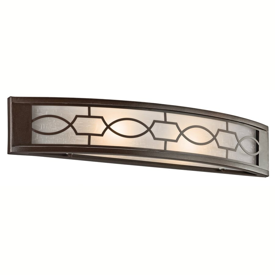 Shop Kichler Lighting Light Punctuation Mission Bronze Bathroom - Mission style bathroom lighting