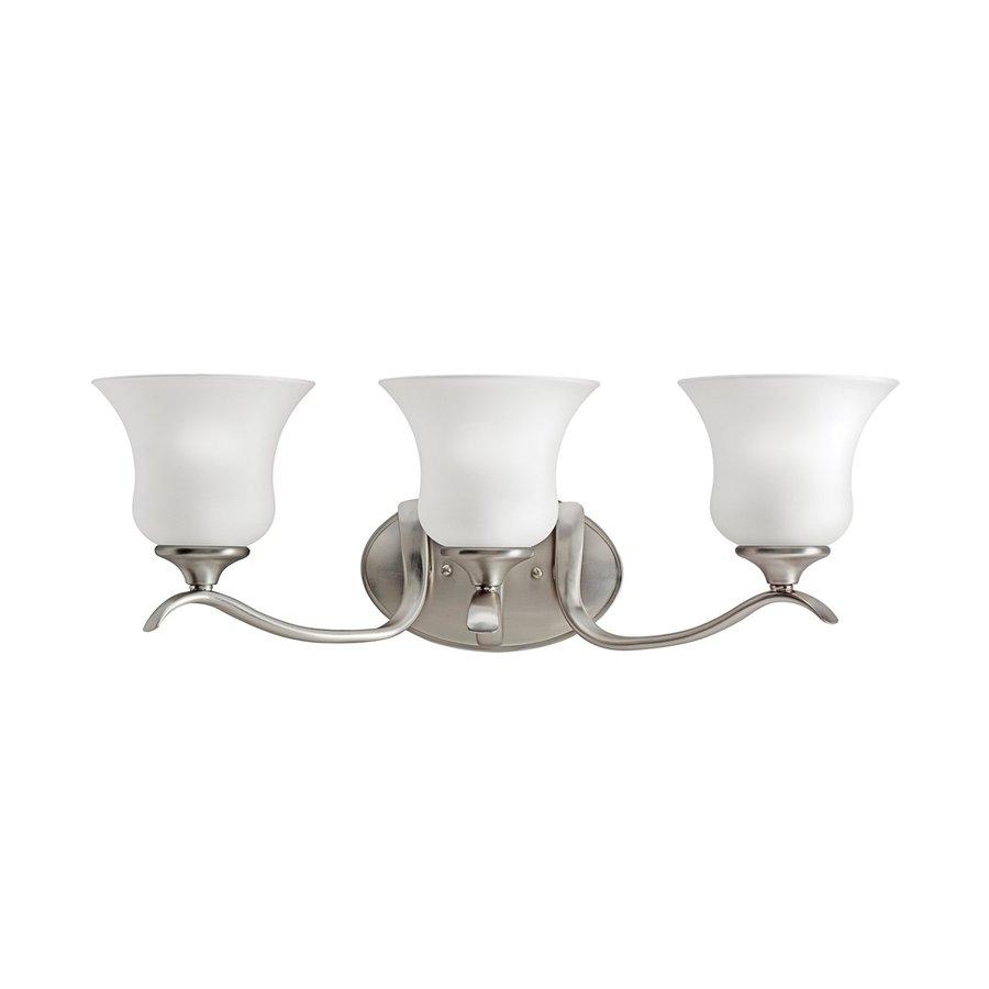 Kichler Lighting Wedgeport 3-Light 8.25-in Brushed Nickel Bell Vanity Light