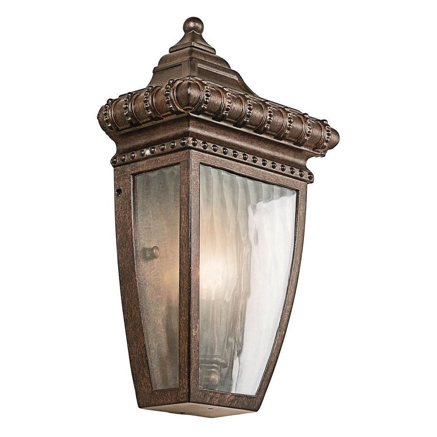 Kichler Venetian Rain 11.75-in H Bronze Outdoor Wall Light