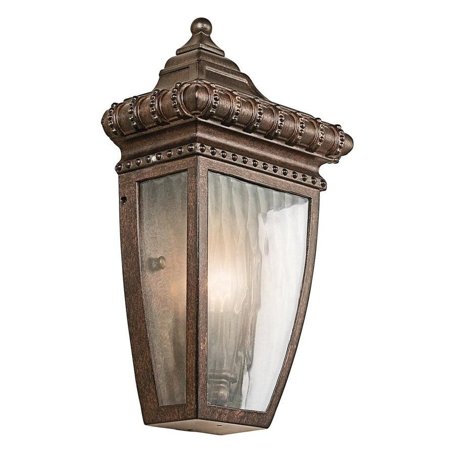 Kichler Lighting Venetian Rain 11.75-in H Bronze Outdoor Wall Light