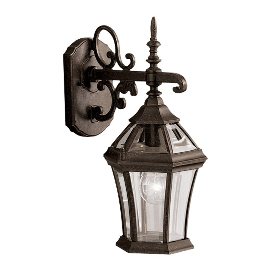 Kichler Lighting Townhouse 15.25-in H Tannery Bronze Outdoor Wall Light