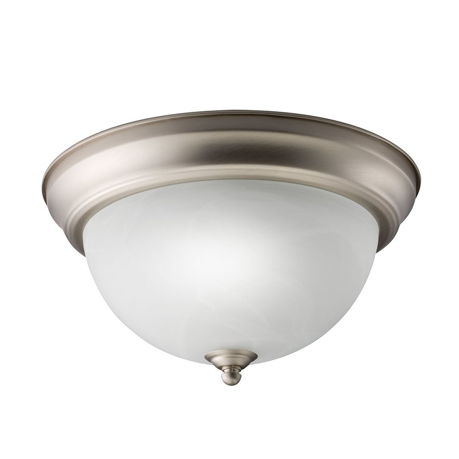 Kichler Lighting Senna White Glass Flush Mount Fluorescent Light (Common: 1-Ft; Actual: 11.25-in)