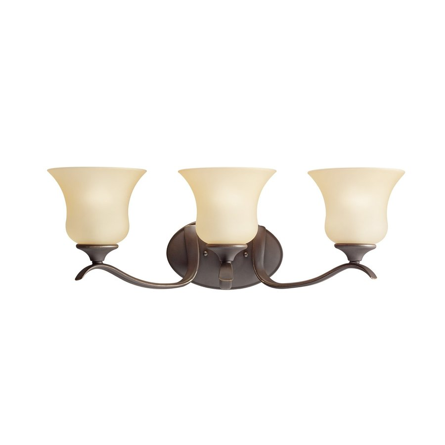 Kichler Wedgeport 3-Light 8.25-in Olde Bronze Bell Vanity Light