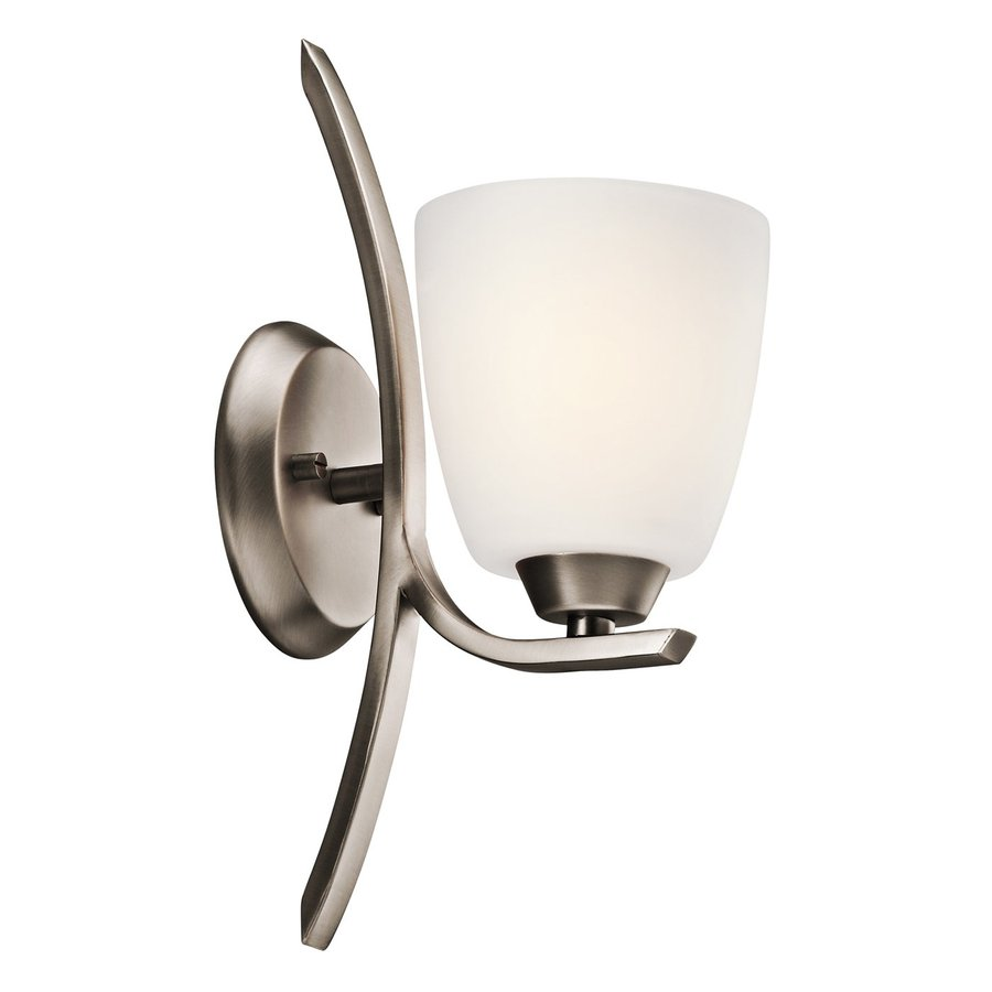 Kichler Lighting Granby 1-Light 14-in Brushed Pewter Bell Vanity Light