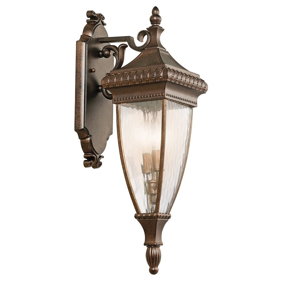 Kichler Venetian Rain 25.25-in H Bronze Outdoor Wall Light