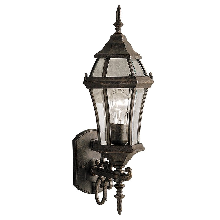 Kichler Lighting Townhouse 21.5-in H Tannery Bronze Outdoor Wall Light