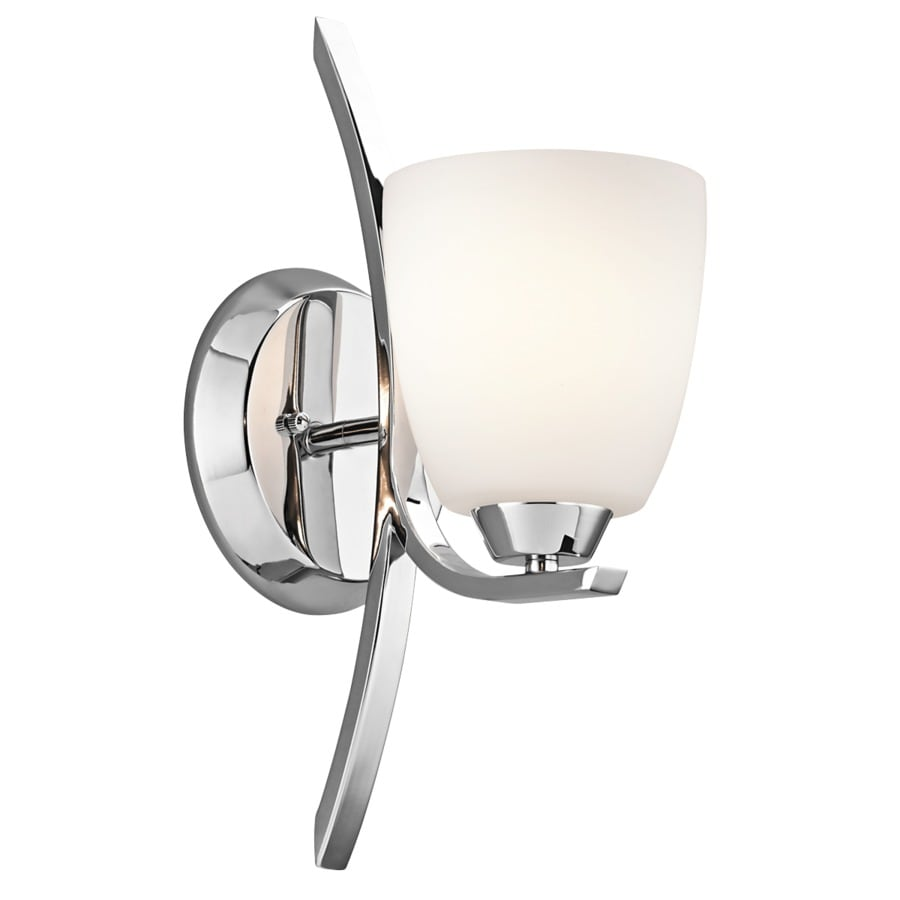 Kichler Granby 1-Light 14-in Chrome Bell Vanity Light