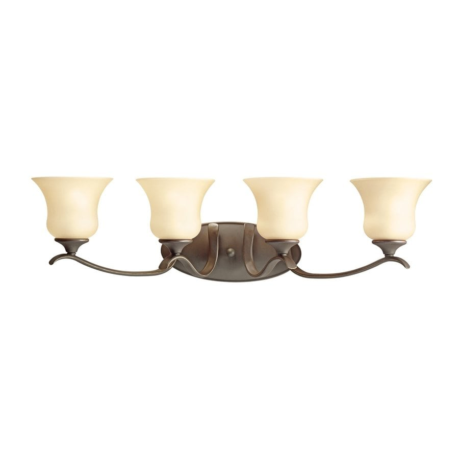 Kichler Wedgeport 4-Light 8.25-in Olde Bronze Bell Vanity Light