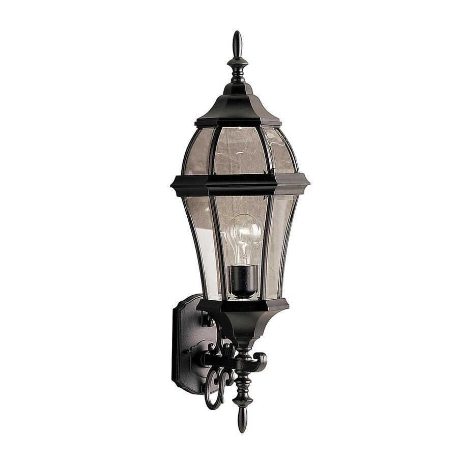 Kichler Townhouse 26.75-in H Black Outdoor Wall Light