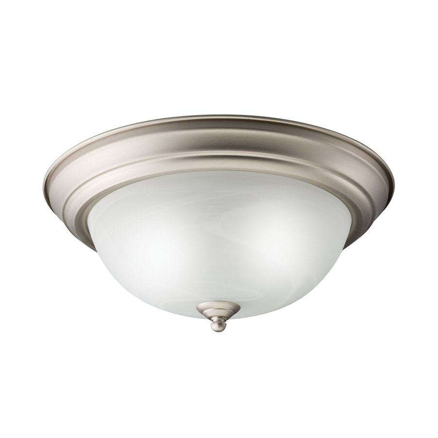 Kichler Senna White Glass Flush Mount Fluorescent Light (Common: 1-Ft; Actual: 13.25-in)