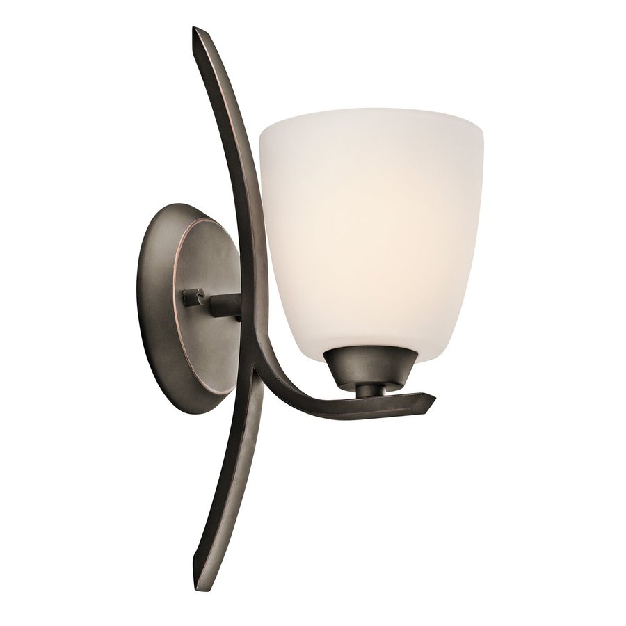 Kichler Lighting Granby 1-Light 14-in Olde Bronze Bell Vanity Light
