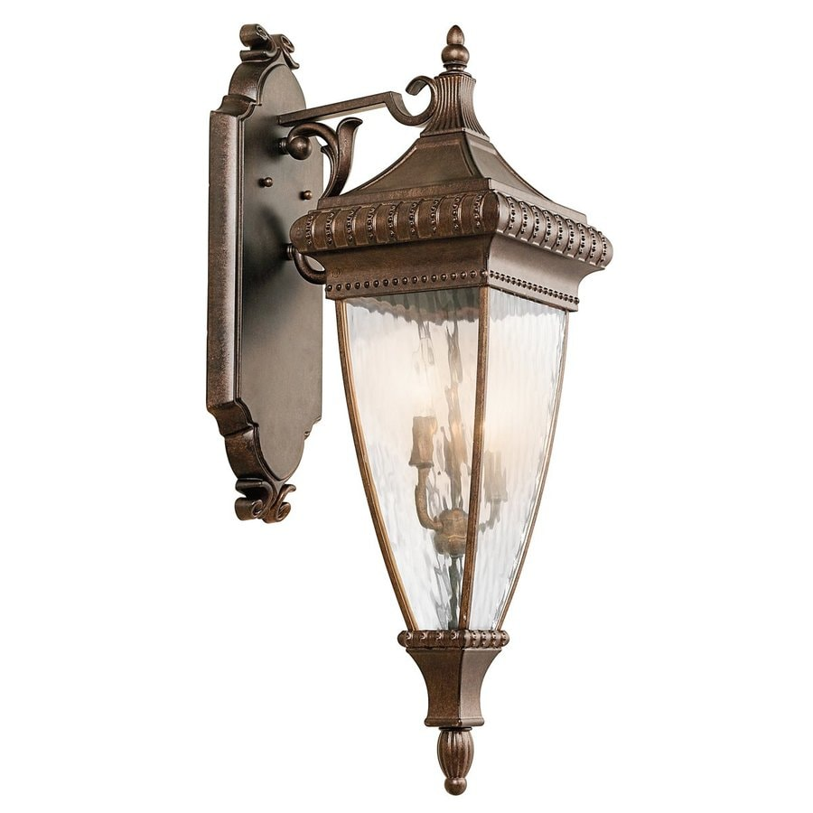 Kichler Venetian Rain 31-in H Bronze Outdoor Wall Light