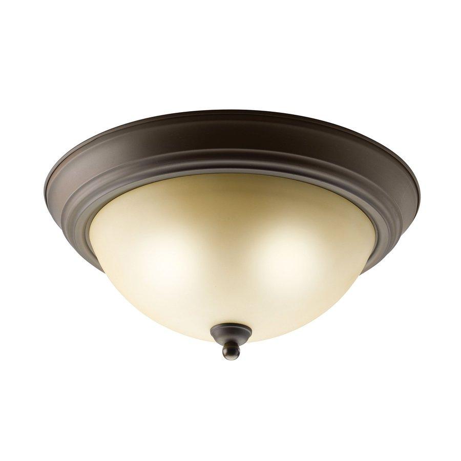 Kichler Lighting Senna Olde Bronze Flush Mount Fluorescent Light ENERGY STAR (Common: 1-ft; Actual: 13.25-in)