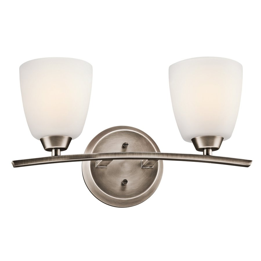 Kichler Granby 2-Light 9.5-in Brushed Pewter Bell Vanity Light